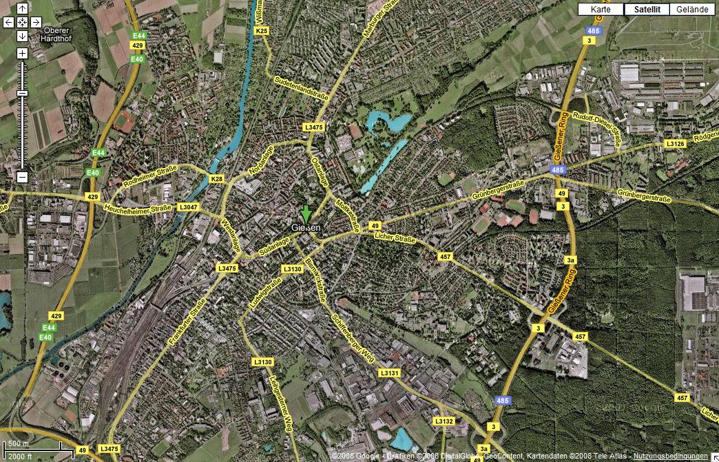 Satellitenbild Giessen