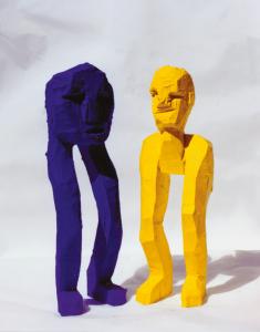 f gelb blau Kopffuessler